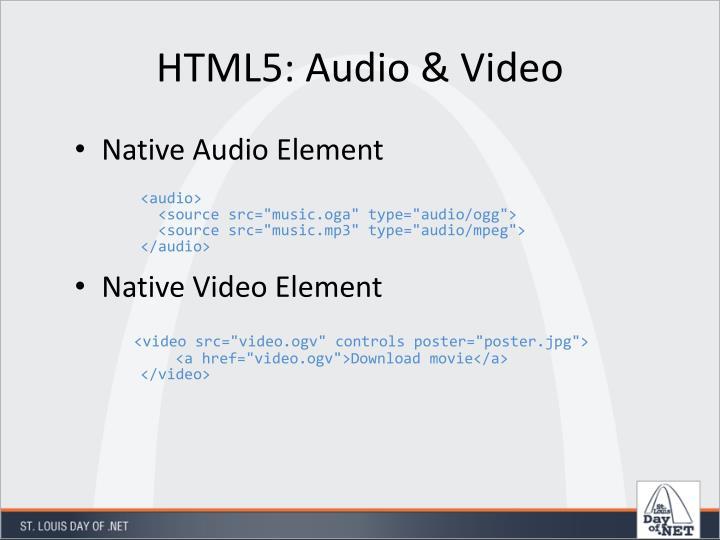 HTML5: Audio