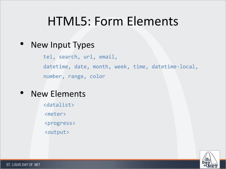 HTML5: Form Elements