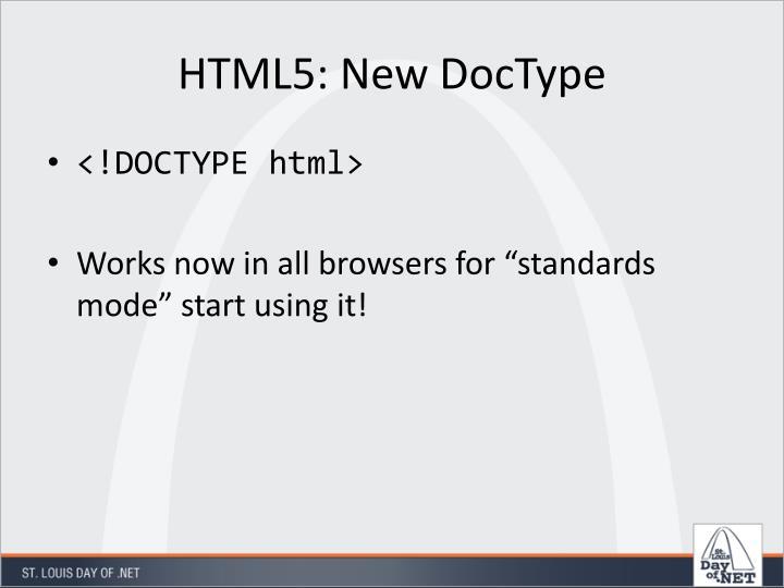 HTML5: New