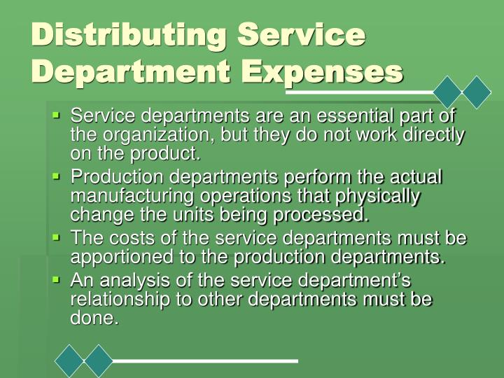 Distributing Service Department Expenses