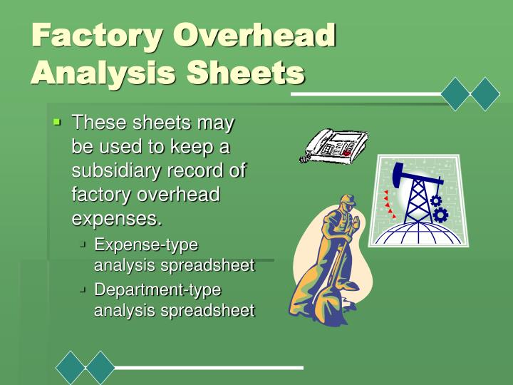 Factory Overhead Analysis Sheets