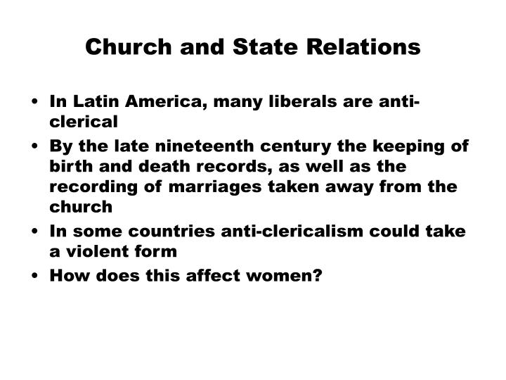 Church and State Relations