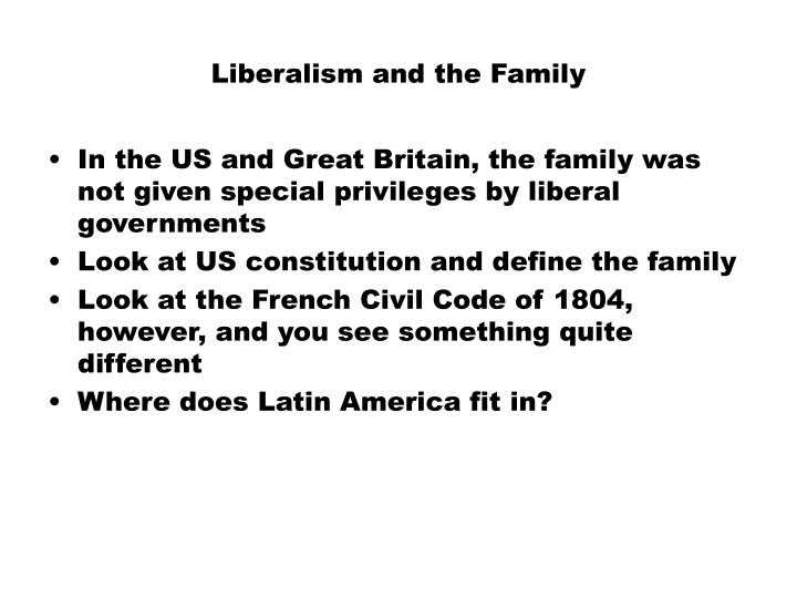 Liberalism and the Family