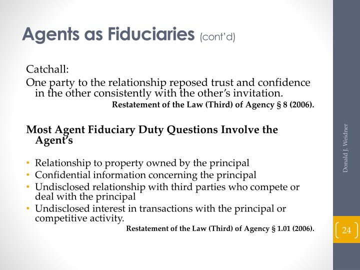 Agents as Fiduciaries