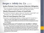 berges v infinity ins co cont d