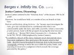 berges v infinity ins co cont d6