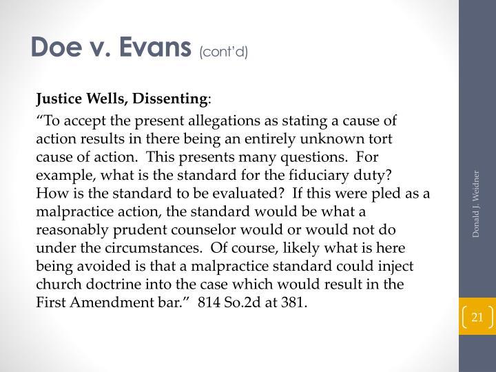 Doe v. Evans