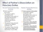 effect of partner s dissociation on fiduciary duties