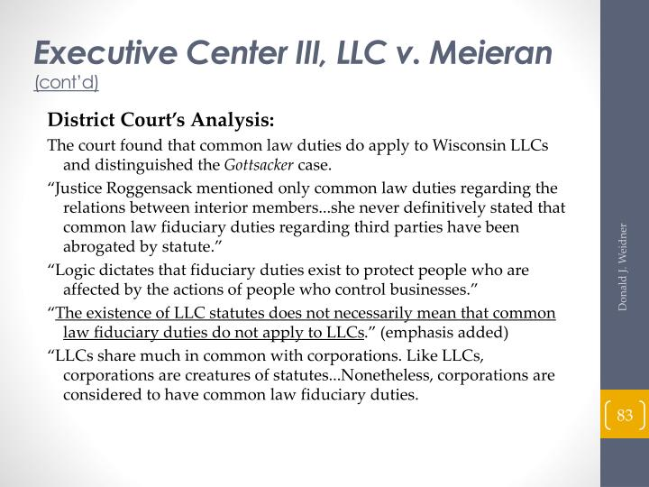 Executive Center III, LLC v. Meieran
