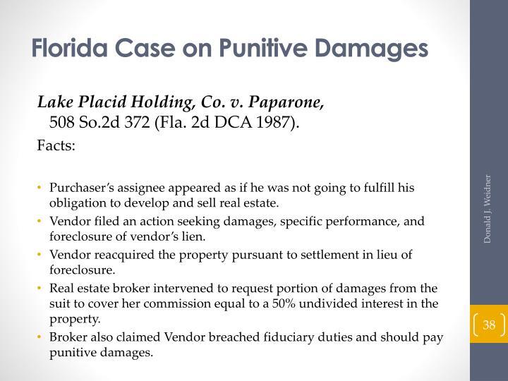 Florida Case on Punitive Damages