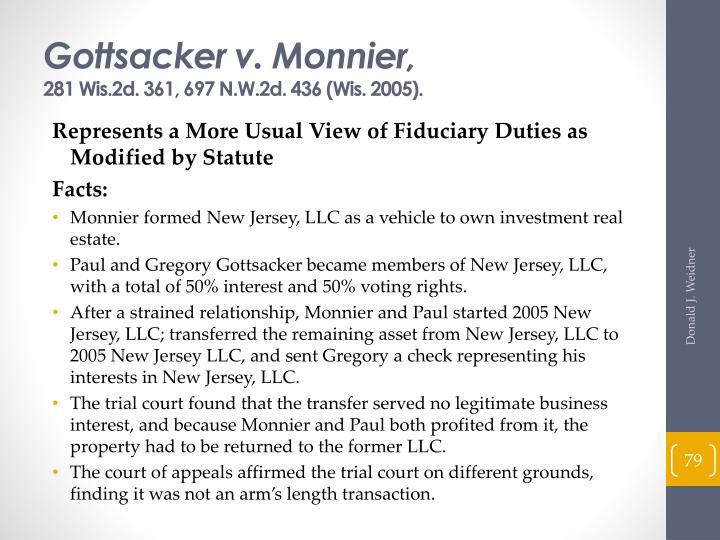Gottsacker v. Monnier,