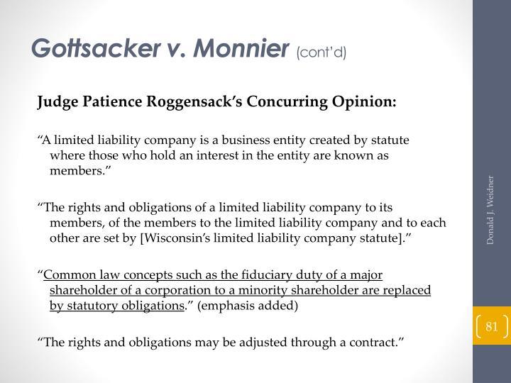 Gottsacker v. Monnier