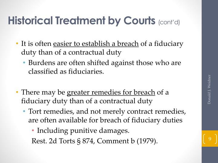 Historical Treatment by Courts