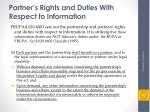 partner s rights and duties with respect to information