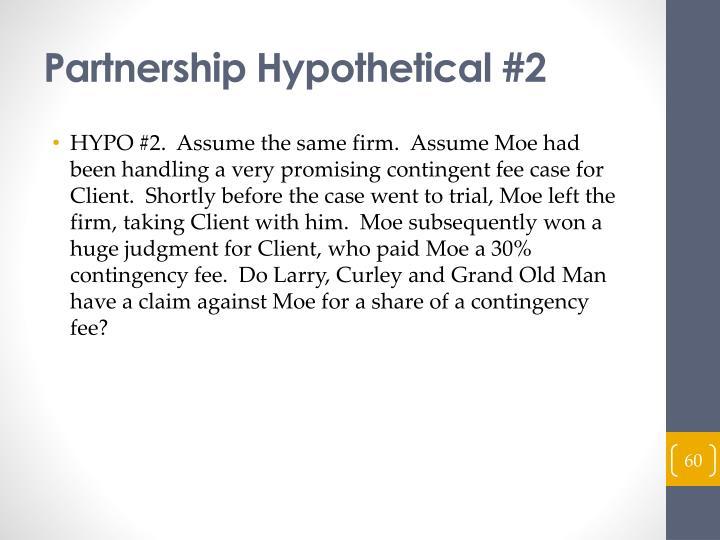 Partnership Hypothetical #2