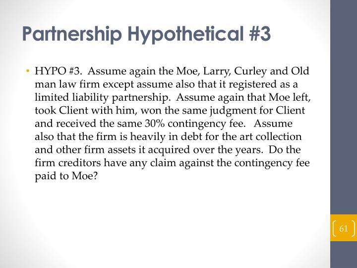 Partnership Hypothetical #3