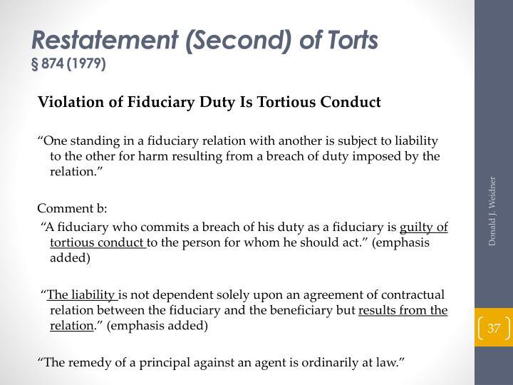 Restatement (Second) of Torts