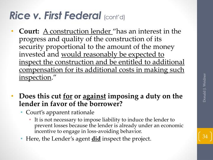 Rice v. First Federal