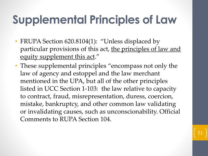 Supplemental Principles of Law
