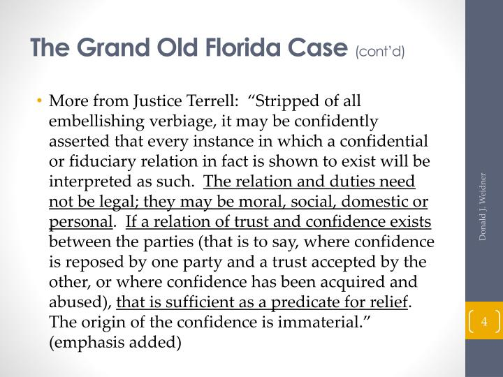 The Grand Old Florida Case
