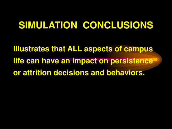 SIMULATION  CONCLUSIONS