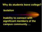 why do students leave college1