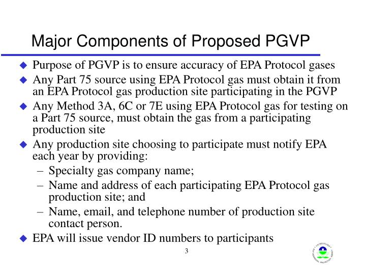 Major Components of Proposed PGVP