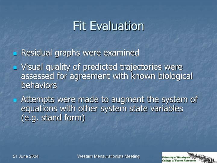 Fit Evaluation