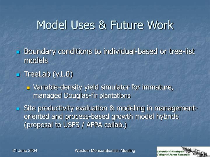 Model Uses & Future Work