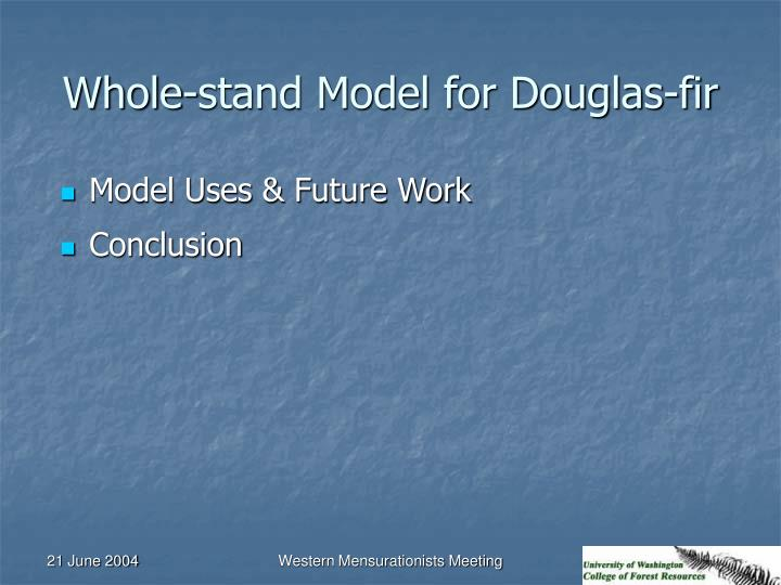 Whole-stand Model for Douglas-fir