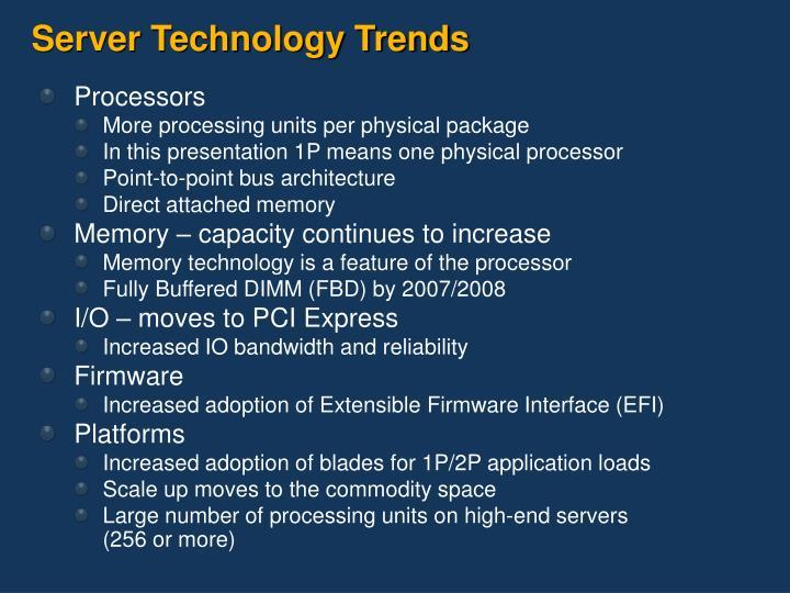 Server Technology Trends