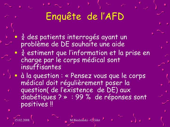 Enquête  de l'AFD
