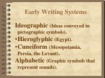 early writing systems3