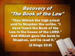 recovery of the book of the law1
