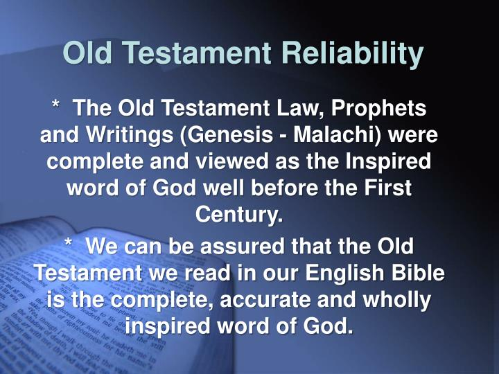 Old Testament Reliability