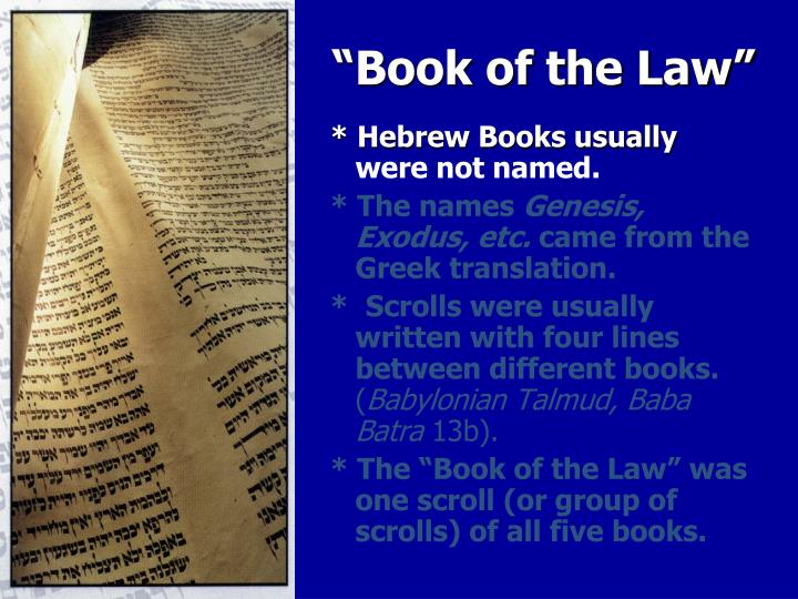 """Book of the Law"""