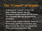 the council of jamnia