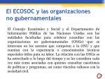 el ecosoc y las organizaciones no gubernamentales