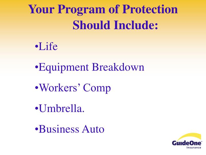 Your program of protection should include1