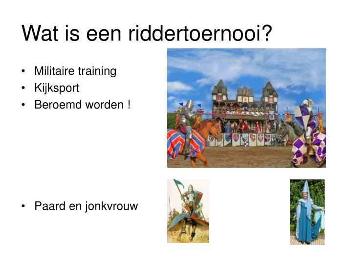 Wat is een riddertoernooi?
