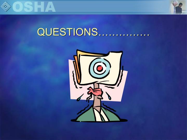 QUESTIONS……………