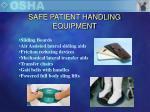 safe patient handling equipment