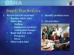 step 6 risk analysis