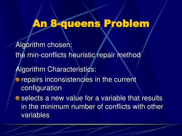 An 8-queens Problem