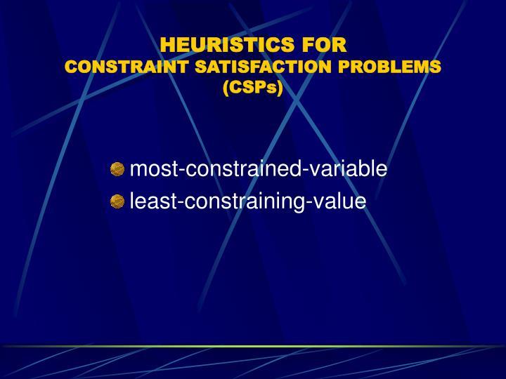 HEURISTICS FOR
