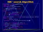 ida search algorithm