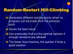 random restart hill climbing