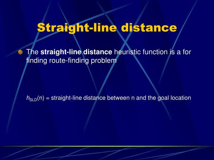 Straight-line distance