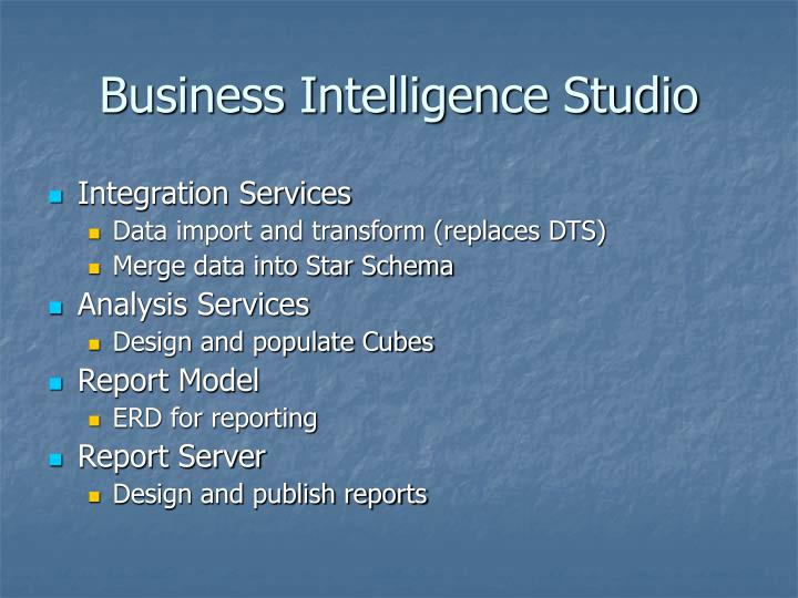 Business Intelligence Studio