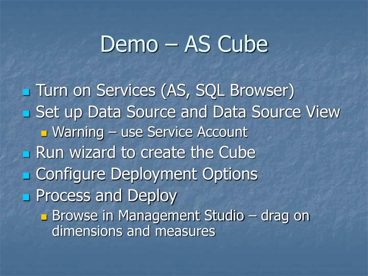 Demo – AS Cube